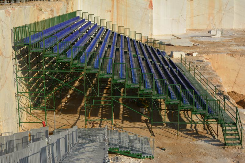 METALLIC TRIBUNES WITH PLASTIC SEATS FOR THE RED-BULL X-FIGHTERS ATHENS 2015 GAMES