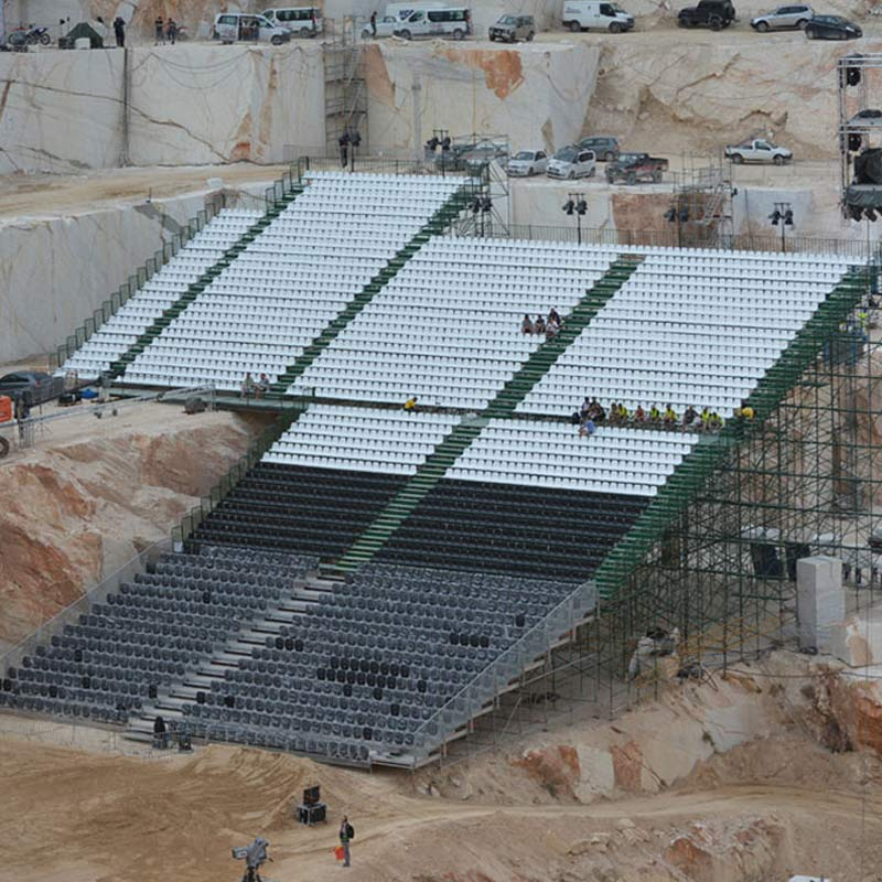 METALLIC TRIBUNES FOR THE RED-BULL X-FIGHTERS ATHENS 2015 GAMES